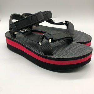 Teva platform Velcro sandals
